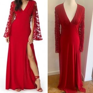 SKY - Beautiful Red Gown Dress - Size M with tags